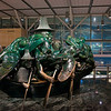 """The Spirit of Haida Gwaii,"" one of Bill Reid's most famous sculptures.  Also known as the Jade Canoe, it's not actually made of jade, but rather is cast in bronze with a jade patina.  This sculpture sits in the middle of the international terminal departures area."