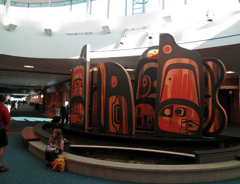 New artwork in the rotunda, marking the beginning of the new part of C-pier.