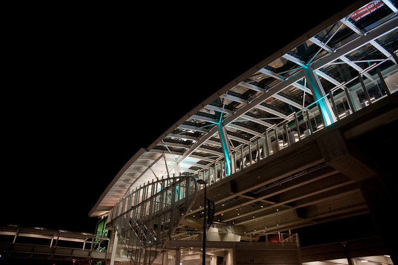 YVR-Airport station from below.