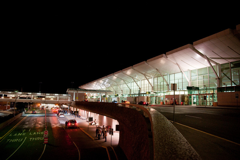 This view of the domestic terminal's new roof, in particular, evokes images of Eero Saarinen's Dulles Airport terminal near Washington, D.C.