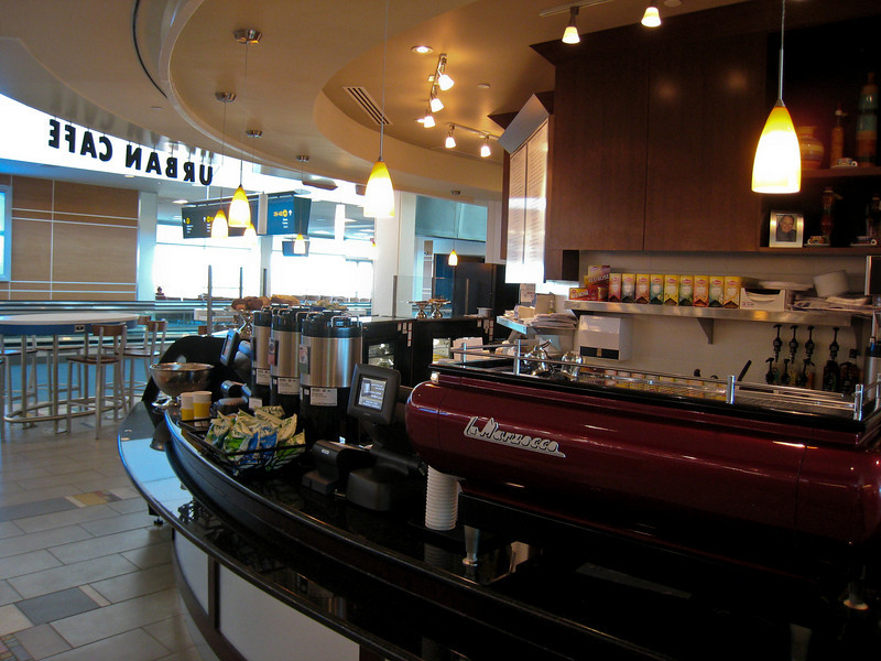 """The new food court on C-Pier features a Bread Garden """"urban cafe""""."""