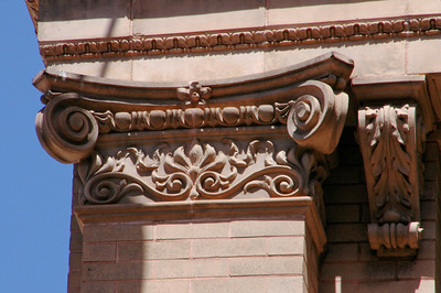 Opened in 1910, this beautiful Renaissance Revival building was originally the Yokohama Specie Bank, but is now office space at the corner of Merchant and Bethel in downtown Honolulu  Corner Detail