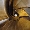 medieval stairway in Rothenburg ob der Tauber