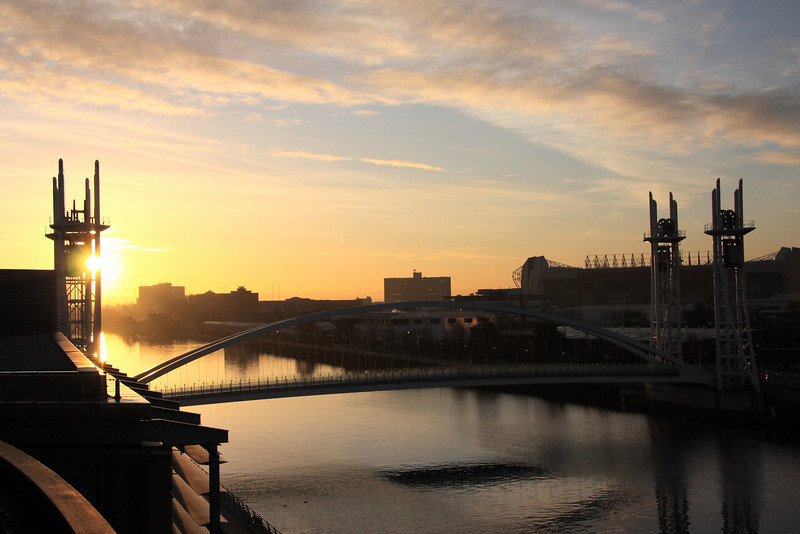 Sunrise over the Manchester Ship canal
