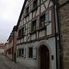 medieval timbered house in Rothenburg ob der Tauber