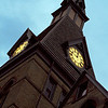 Clock tower at Hamline University in Minneapolis-St. Paul, Minnesota.