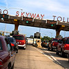Chicago Skyway toll bridge on a busy day.