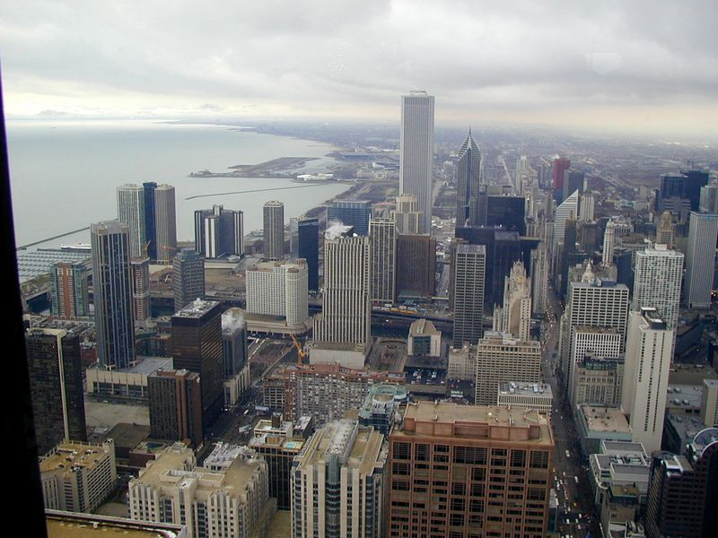 Looking south and east from the Hancock building