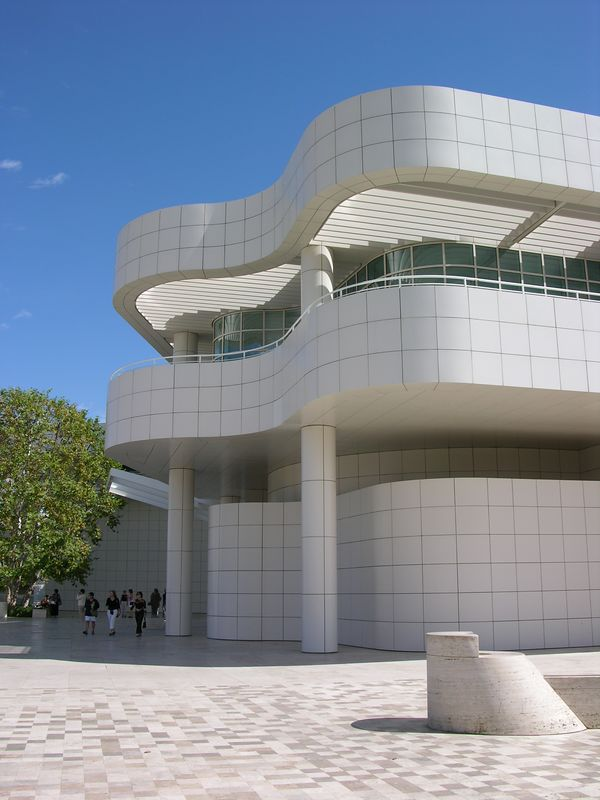 Entrance building of the Getty Art Museum