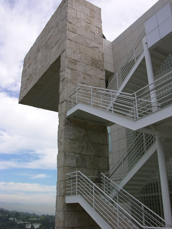 Outdoor staircase at the Getty