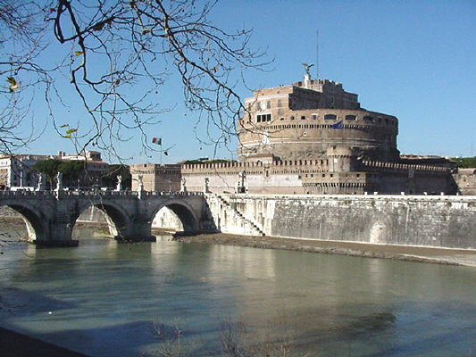 Castle St. Angelo and Tiber river