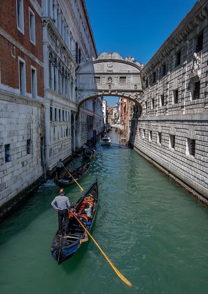 Bridge of Sighs in Venice Italy 3/24/19
