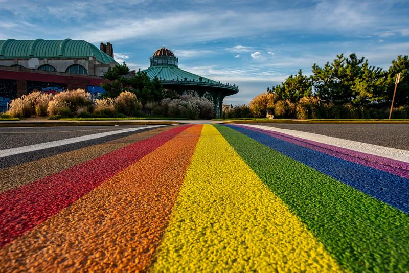 Rainbow Crosswalk in Asbury Park 10/16/18