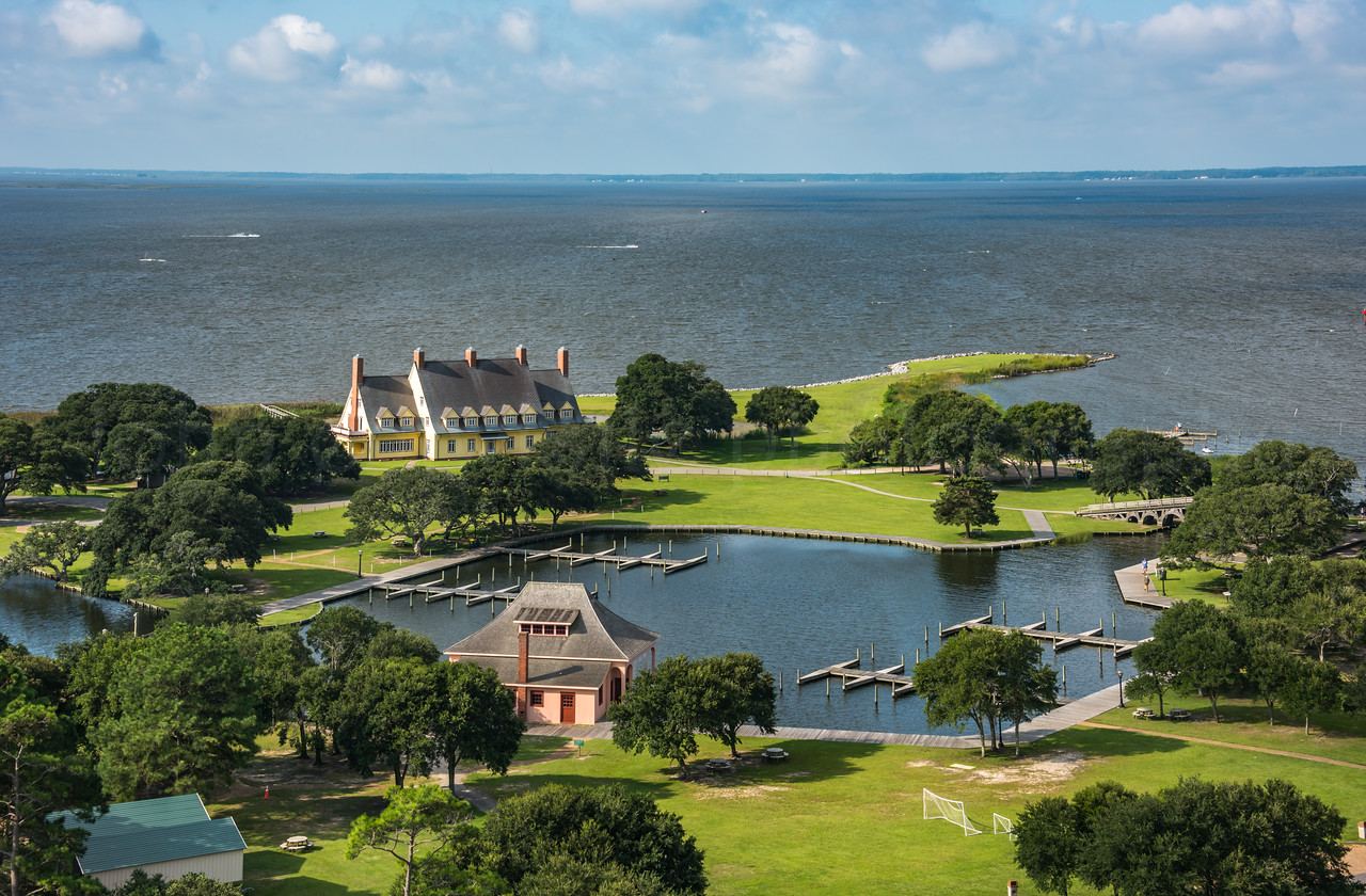 Whalehead Club Mansion from Top of Currituck Lighthouse, Corolla, NC 8/18/17