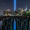 The Tribute in Light Over Lower Manhattan 9/11/19