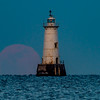 Full Moon Rising Behind Great Beds Lighthouse 2/10/17