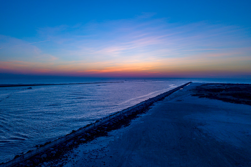 Predawn Colors Over Barnegat Inlet 1/21/18