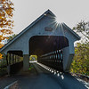 An Autumn Scene Around A Covered Bridge In Woodstock, VT 10/10/19