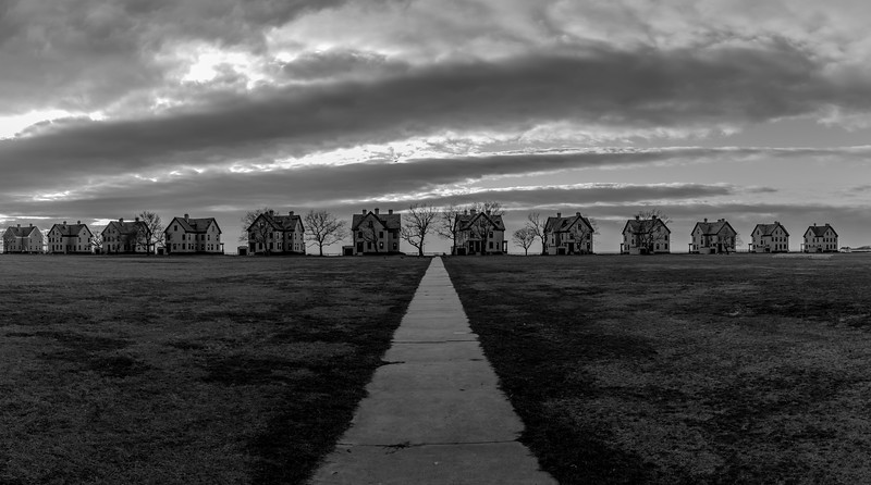 Officer's Row at Fort Hancock, Sandy Hook 12/1/16