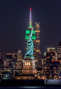 The Statue of Liberty Aligned with the Empire State Building 6/9/17