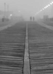 Foggy Morning Over Asbury Park Boardwalk 7/3/18