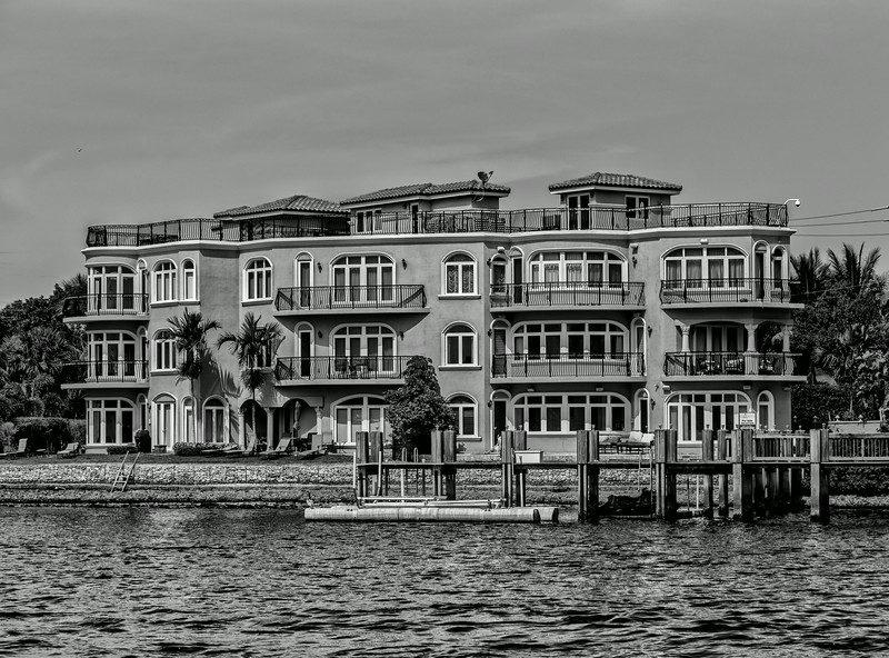 Condominium on the Intercoastal Waterway, in Broward County (South Florida)