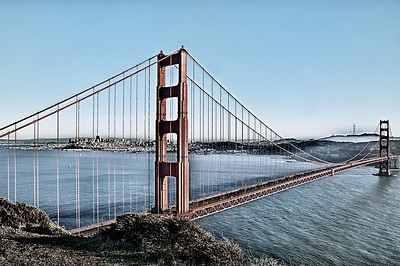 Golden Gate in Contrast