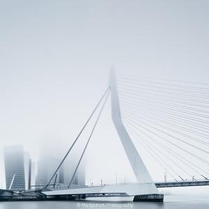 Rotterdam in fog