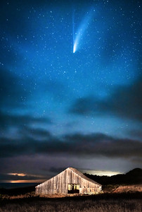 Sea Ranch Barn & Comet NEOWISE, Study 2