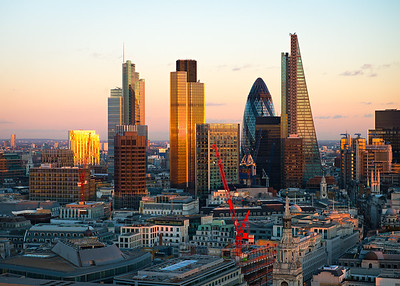 London. Tower 42, The Gherkin & The Leadenhall Building