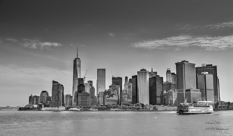 Cityscape of Downtown Manhattan, New York