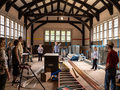 Librarians Tour AIC Construction Site