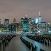 Lower Manhattan Skyline Panorama from Brooklyn 1/28/17