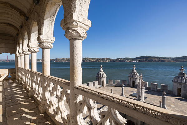 View from the Torre de Belem tower in Lisbon