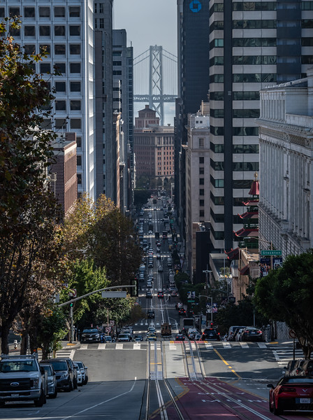 A Street View Of The Bay Bridge, San Francisco, CA 11/6/19
