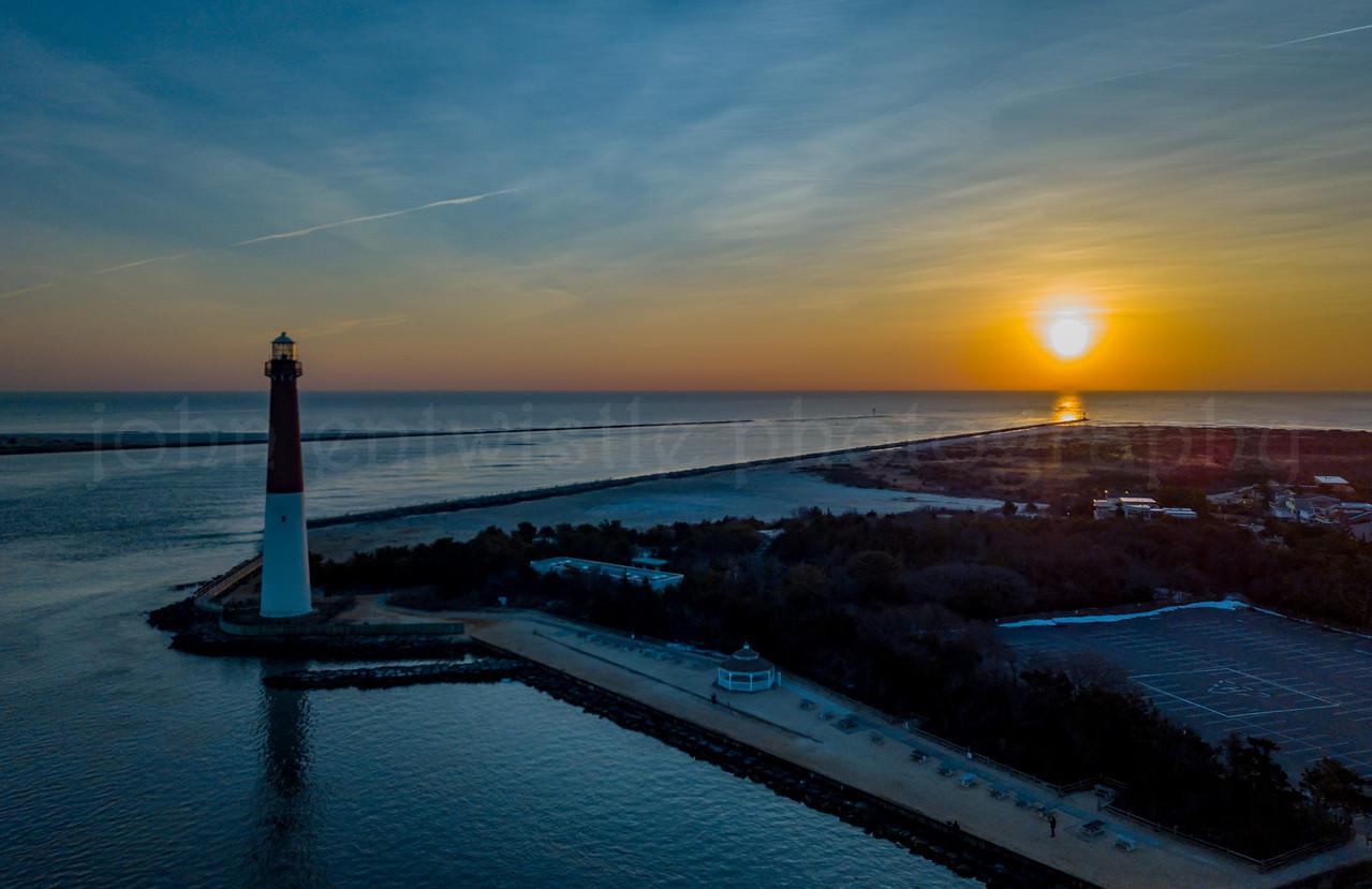 Sunrise Over Barnegat Lighthouse 1/21/18