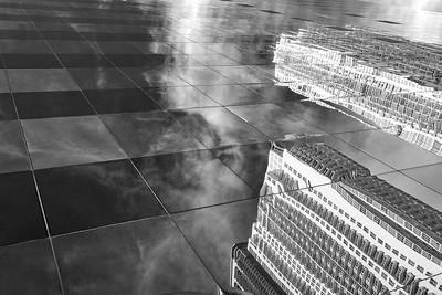 City Reflections (B&W)