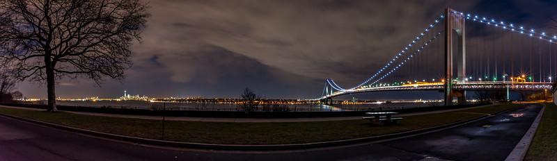 Verrazano Bridge and Brooklyn Panorama 1/12/17