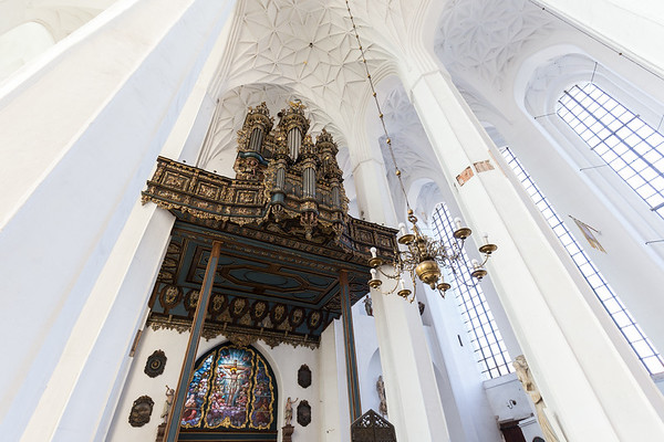 Organ at the St. Mary's Church in Gdansk