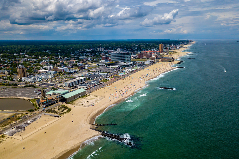 Aerial View Of Asbury Park Beach 6/30/20