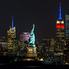 Statue of Liberty with Empire State Building