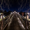 Christmas Lights On Footbridge In Spring Lake 12/21/19