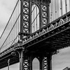 Manhattan Bridge with the Empire State Building 1/28/17