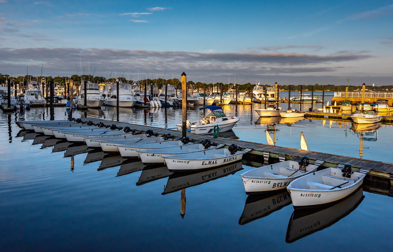 Boat Reflections at Belmar Marina 9/2/18