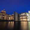 German parliament buildings in Berlin in the evening
