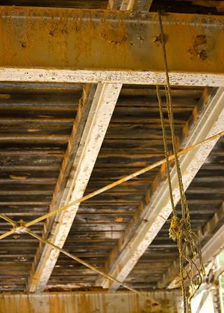 Rusty Bridge with Rope