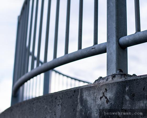 Concrete overpass detail