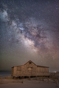 The Milky Way Rising Over The Judge's Shack in Island Beach State Park 4/11/18