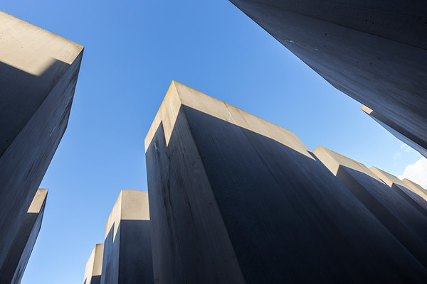 Abstract view of the Holocaust Memorial in Berlin