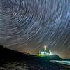Star Trails Over The Montauk Lighthouse, Montauk, NY 5/7/19
